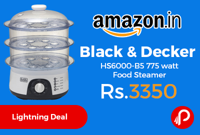 Black & Decker HS6000-B5 775 watt Food Steamer