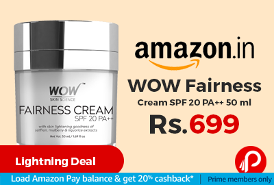 WOW Fairness Cream SPF 20 PA++ 50 ml