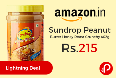 Sundrop Peanut Butter Honey Roast Crunchy 462g