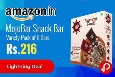 MojoBar Snack Bar Variety Pack of 6 Bars