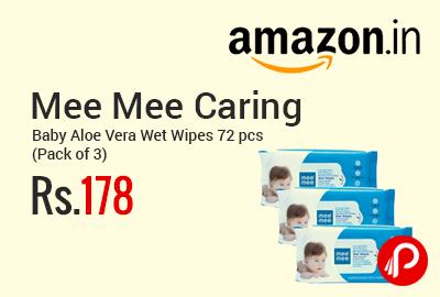 Mee Mee Caring Baby Aloe Vera Wet Wipes 72 pcs