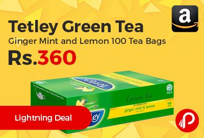 Tetley Green Tea Ginger Mint and Lemon 100 Tea Bags