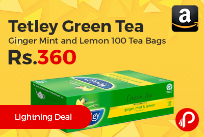 Tetley Green Tea Ginger Mint and Lemon 100 Tea Bags