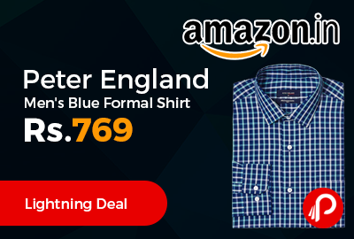 Peter England Men's Blue Formal Shirt