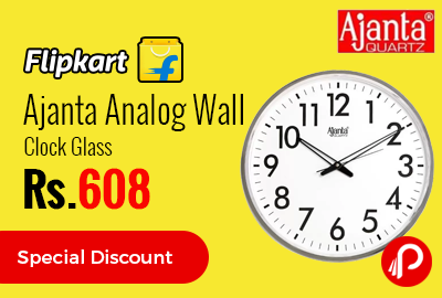 Ajanta Analog Wall Clock Glass