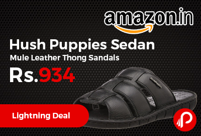 Hush Puppies Sedan Mule Leather Thong Sandals