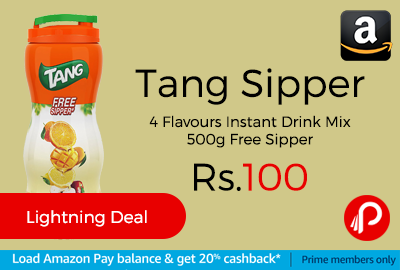 Tang Sipper 4 Flavours Instant Drink Mix 500g Free Sipper