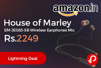 House of Marley EM-JE083-SB Wireless Earphones Mic