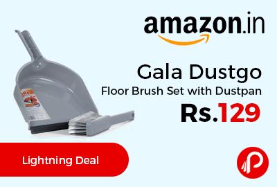 Gala Dustgo Floor Brush Set with Dustpan