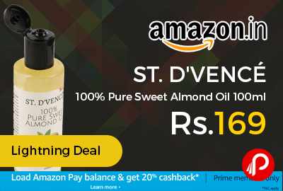 ST. D'VENCÉ 100% Pure Sweet Almond Oil 100ml