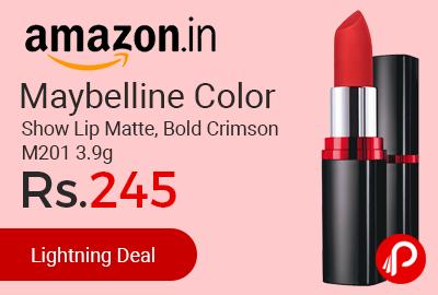 Maybelline Color Show Lip Matte, Bold Crimson M201 3.9g