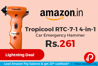 Tropicool RTC-7-1 4-in-1 Car Emergency Hammer