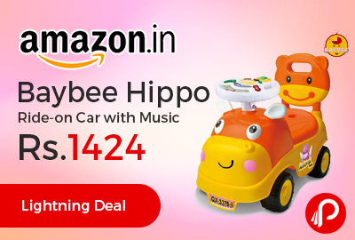 Baybee Hippo Ride-on Car with Music