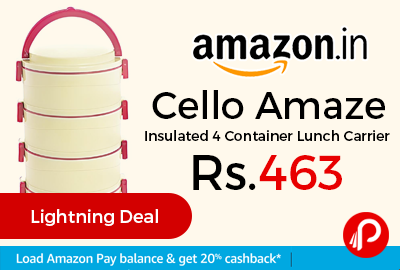 Cello Amaze Insulated 4 Container Lunch Carrier