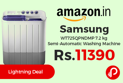 Samsung WT725QPNDMP 7.2 kg Semi-Automatic Washing Machine