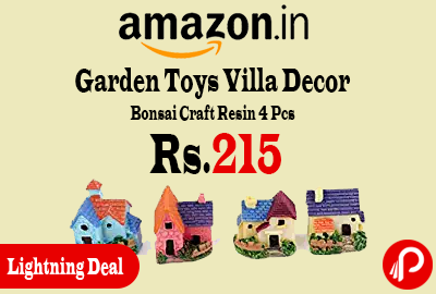 Garden Toys Villa Decor Bonsai Craft Resin 4 Pcs Set at Rs.215 Only - Amazon