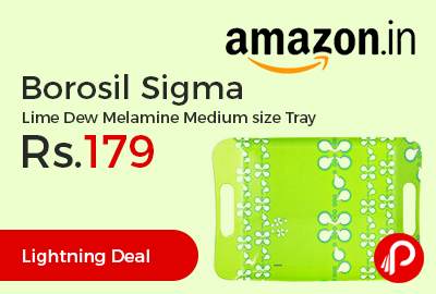 Borosil Sigma Lime Dew Melamine Medium size Tray