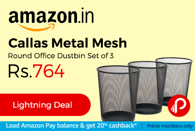 Callas Metal Mesh Round Office Dustbin Set of 3
