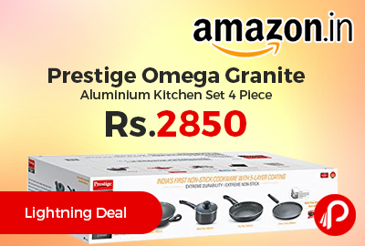 Prestige Omega Granite Aluminium Kitchen Set 4 Piece