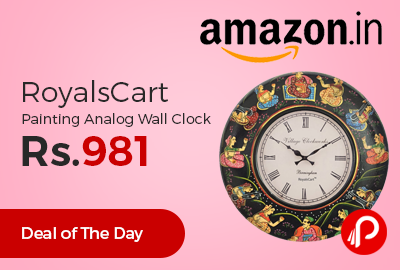 RoyalsCart Painting Analog Wall Clock