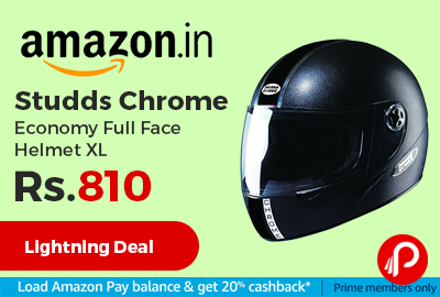 Studds Chrome Economy Full Face Helmet XL at Rs.810 Only - Amazon