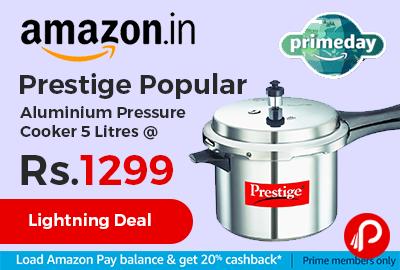 Prestige Popular Aluminium Pressure Cooker 5 Litre