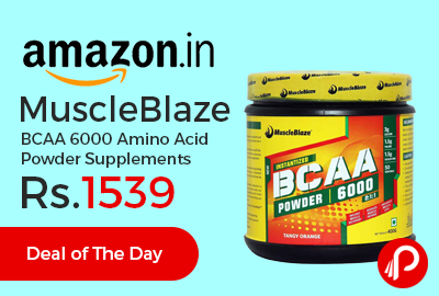 MuscleBlaze BCAA 6000 Amino Acid Powder Supplements