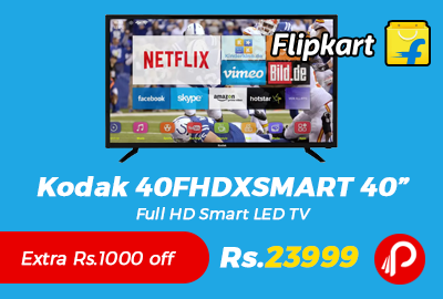 "Kodak 40FHDXSMART 40"" Full HD Smart LED TV"