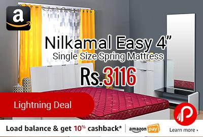 "Nilkamal Easy 4"" Single Size Spring Mattress"