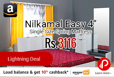 "Nilkamal Easy 4"" Single Size Spring Mattress"