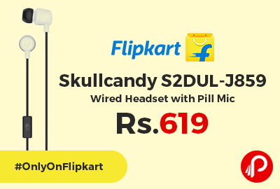 Skullcandy S2DUL-J859 Wired Headset with Pill Mic