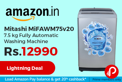 Mitashi MiFAWM75v20 7.5 kg Fully Automatic Washing Machine at Rs.12990 Only - Amazon