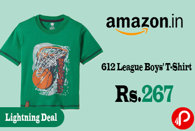 612 League Boys T-Shirt Just at Rs.267 Only - Amazon