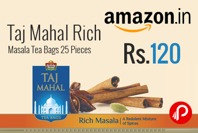 Taj Mahal Rich Masala Tea Bags 25 Pieces