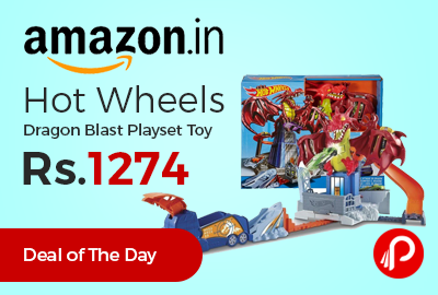 Hot Wheels Dragon Blast Playset Toy Just at Rs.1274 Only - Amazon
