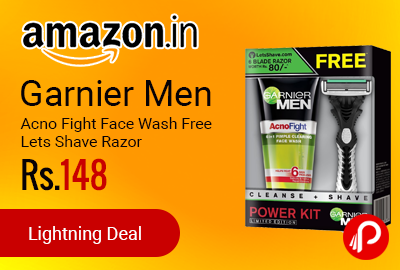 Garnier Men Acno Fight Face Wash Free Lets Shave Razor