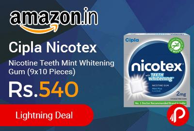 Cipla Nicotex Nicotine Teeth Mint Whitening Gum (9x10 Pieces)