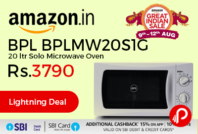BPL BPLMW20S1G 20 ltr Solo Microwave Oven