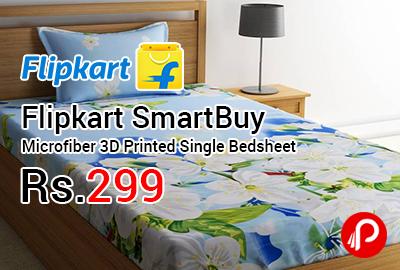 Flipkart SmartBuy Microfiber 3D Printed Single Bedsheet