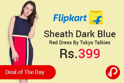 Sheath Dark Blue Red Dress