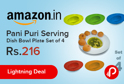Pani Puri Serving Dish Bowl Plate Set of 4