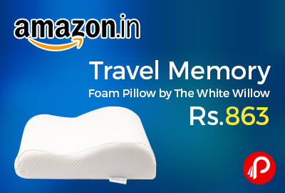 Travel Memory Foam Pillow by The White Willow
