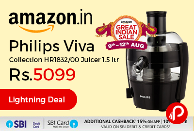 Philips Viva Collection HR1832/00 Juicer 1.5 ltr