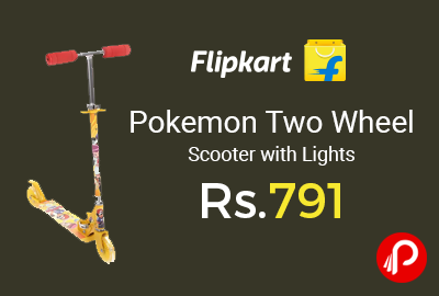 Pokemon Two Wheel Scooter with Lights