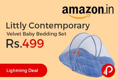 Littly Contemporary Velvet Baby Bedding Set