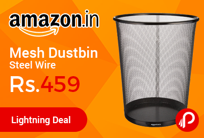 AmazonBasics Mesh Dustbin Steel Wire