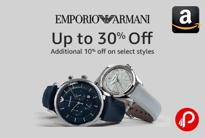 Emporio Armani Clock Upto 30% off