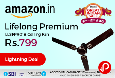 Lifelong Premium LLSFPR01B Ceiling Fan