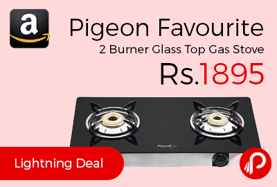 Pigeon Favourite 2-Burner Glass Top Gas Stove