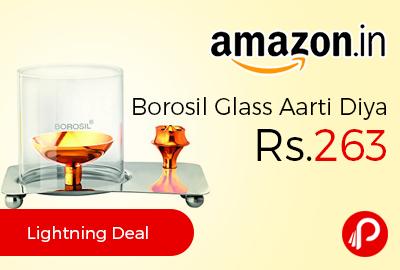 Borosil Glass Aarti Diya